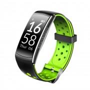 Bratara fitness smart RegalSmart Q8-168 bluetooth, Android, iOS, OLED 0.96 inch, IP68 submersibilia, heart rate, verde