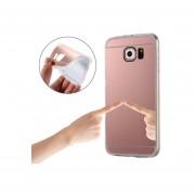 Plating Espejo TPU Funda Protectora Para Samsung Galaxy S7 EDGE / G935 (Dorado Rosa)