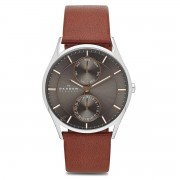 Karóra SKAGEN - Hoist SKW6086 Light Brown/Silver/Steel
