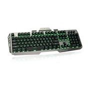 IOGEAR Kaliber Gaming Plunger Keyboard - Cable Connectivity - Black, Grey