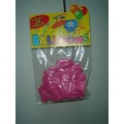 Rocco balloons confezione palloncini monocolore rosa 25 pz