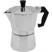 HSP Premium Stovetop Moka Pot - Coffee / Tea Percolator ( Coffee/Tea Filter + Decoction maker )-Aluminium Espresso Maker - For Bold, Full Body Espresso - Easy to Use - Makes 3 Cups 3 Cups Coffee Maker(Silver)