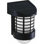 Lampa solara LED de perete alb rece plastic ABS panou solar 2V 100 mA 200 mAh 195 x 120 x 100 mm negru