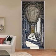 WZOOLD Pegatinas para puerta de San Pablo, diseño de pasillo creativo, para puerta de madera, decoración del hogar, 3D