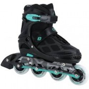 Oxer Patins Oxer Pixel First Wheels - In Line - Fitness - Ajustável - PRETO/AZUL