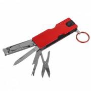 Al aire libre multi-funcional ultrafina cuchillo clipper pequeno clavo - rojo