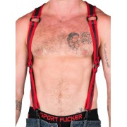 665 Inc. Neoprene Heckler Harness Red/Black 14519M