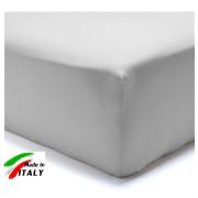 Lenzuolo Angolo con Elastici Francese Prodotto italiano in Percalle GRIGIO