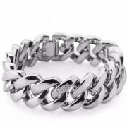The Rubz Metal 15mm Unisex Bracelet Silver