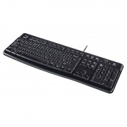 Logitech con cable teclado USB Multimedia negro U.S. International