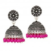 Silver Ethnic Traditional Jhumki Earrings online Earrings Online Shopping at Low Price