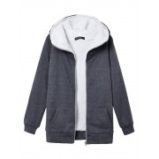 Meco S-4XL Women Fleece Hoodie Outwear Thicken Coat