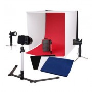 Caruba Portable Fotostudio met Losse LED lampen 40x40x40cm