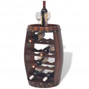 vidaXL Vinställ tunnformad 14 flaskor brun