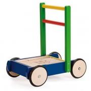 Jasper Toys Chariot de Marche & Cubes Color - Jouet en bois