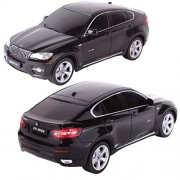 Rastar 1:24 Die Cast BMW X6 Model Car with Opening Doors and Detailed Interior and Exterior, Black, TOYSHINE - 25