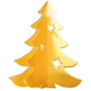 Merkloos Hangdecoratie kerstboom goud 35 cm