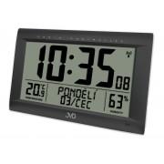 Obrovské rádiem řízené digitální hodiny s budíkem JVD černé RB9075.1