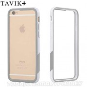 Funda TAVIK iPhone 6s/6 Bumper Blanco Gris