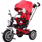 Tricicleta cu scaun reversibil Still 6-36 luni cu pozitie de somn roata plina Pearl/Rosu
