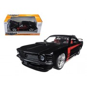 1970 Ford Mustang Boss 429, Black Jada 90348 1/24 Scale Diecast Model Toy Car
