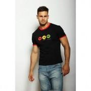 Epatage Современная мужская облегающая футболка с принтом черного цвета Epatag RT010402m-EP распродажа