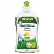 Detergent Ecologic Lichid pentru Vase cu Lamaie Sodasan 500ml