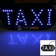 Alcoa Prime New Auto Vehicles Car Blue 45 LED 1210 SMD Windscreen Cab Sign Taxi Light Lamp