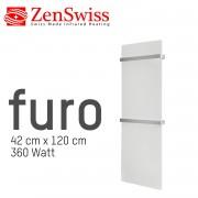ZenSwiss furo Handtuchtrockner 42 x 120 cm (Matt Weiss)
