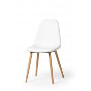 Esszimmerstuhl Stuhl 4er Set Fynn weiß Echtholzbeine aus Buche 10788