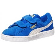 PUMA Suede Classic 2-Strap Sneaker , Snorkel Blue/White, 8 M US Toddler