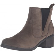 Clarks Women's Nevella Bell Boot, Dark Taupe Suede, 8 M US