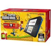 Consola Nintendo 2DS + Super Mario Bros 2 (Negru/Albastru)