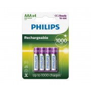 Philips R03B4RTU10/10 - 4 buc Baterie reincarcabila AAA MULTILIFE NiMH/1,2V/1000 mAh