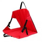joyMerit Cojín de silla plegable portátil ultraligero para silla de camping al aire libre Picnic Beach Travel Garden Park Stadium Bleacher Rugby Football Sport rojo