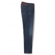 ランズエンド LANDS' END メンズ・スクエアリガー・立体ストレッチ・デニム(ミディアムウォッシュ)