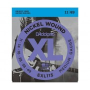 D'ADDARIO Muta Di Corde D'Addario Exl115 Nickel Wound, Medium/blues-Jazz Rock, Chitarra Elettrica 11-49