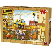 Puzzle King - Kiddy Construction, 24 piese (05459)