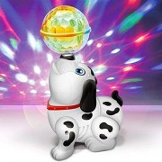 Zuffon Dancing Dog with Music Flashing Lights    Wonderful Music for Kids, Battery Operated  Light and Sound Musical Dancing Dog Dog with Music Flashing Lights Multicolor