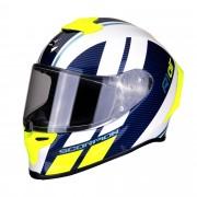 Scorpion Casco Moto Integrale Exo-R1 Air Corpus White Blue Neon Yellow