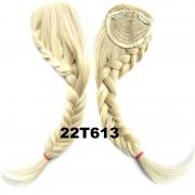 Clip in ofina s pleteným copánkem (odstín 22T613 ) - Světové Zboží
