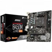 MSI Main Board Desktop B450 (SAM4, 2xDDR4, 1xPCI-Ex16, 1xPCI-Ex1,6 x USB3.2, 6 x USB2.0, 4xSATA III, M.2, DVI-D, HDMI, GLAN) mATX Retail B450M-A_PRO_MAX