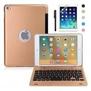 iPad Mini 4 Keyboard Case, BoriYuan Bluetooth Wireless Keyboard Folio Flip Smart Cover For Apple iPad Mini 4 2015 Relea