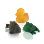 HEVEA 3 jouets de bain en couleur - HEVEA