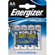 Energizer Bateria ENERGIZER Ultimate Lithium, AA, L91, 1,5V, 4szt.