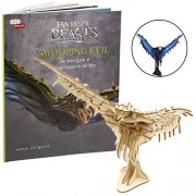 Incredibuilds Fantastic Beasts and Where to Find Them Swooping Evil Book 3D Wood Model Kit - Build, Paint Collect Your Own Wooden Great for Kids Adults 8+ 6.5