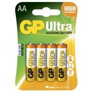 Blister 4 Batterie GP Ultra Alcaline Stilo AA 15AU/LR6