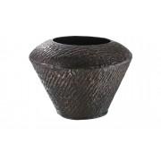 Höffner Deko Vase ¦ kupfer ¦ Aluminum ¦ Maße (cm): H: 16 Ø: 21