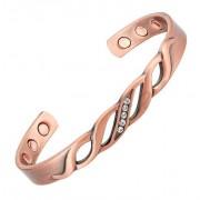 Kerdynelle Bracelet magnétique en cuivre avec aimants - Pétunia