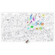OMY Design & Play Poster à colorier XXL Fantastic / 180 x 100 cm - OMY Design & Play blanc,noir en papier